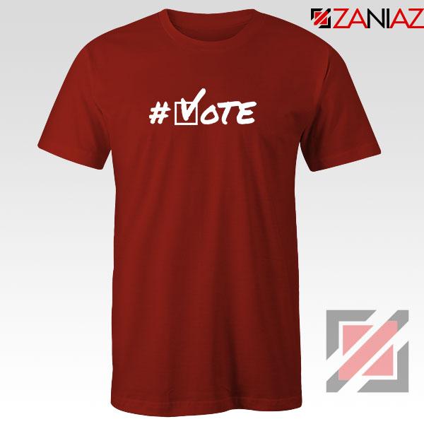 Hashtag Vote Red Tshirt