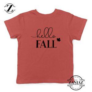 Hello Fall Kids Red Tshirt