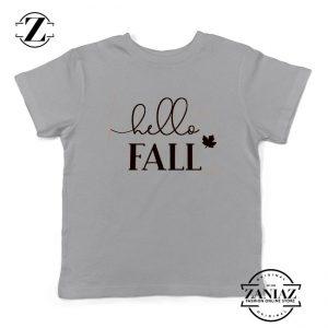Hello Fall Kids Sport Grey Tshirt