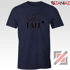 Hello Fall Navy Blue Tshirt