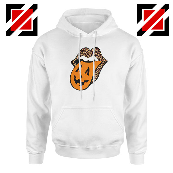 Leopard Pumpkin Mouth Tongue Hoodie