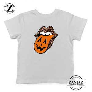Leopard Pumpkin Mouth Tongue Kids Tshirt