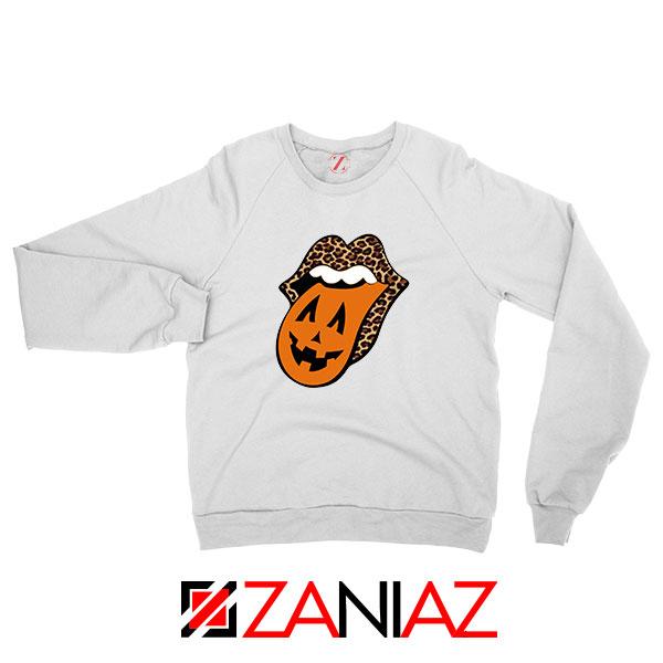 Leopard Pumpkin Mouth Tongue Sweatshirt
