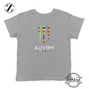 Monster Autism Energy Kids Sport Grey Tshirt