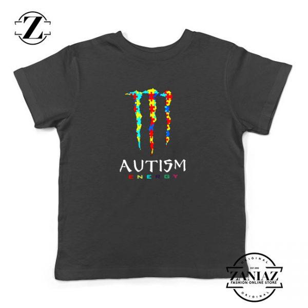 Monster Autism Energy Kids Tshirt