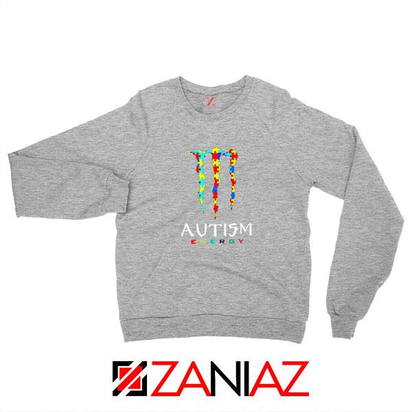 Monster Autism Energy Sport Grey Sweatshirt