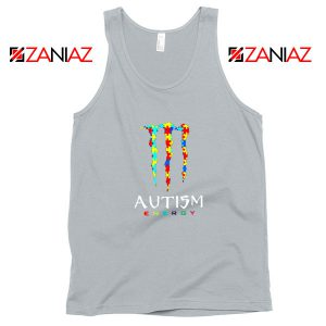Monster Autism Energy Sport Grey Tank Top