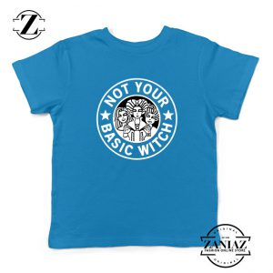 Not Your Basic Witch Kids Blue Tshirt