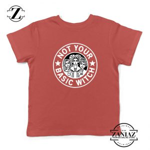 Not Your Basic Witch Kids Red Tshirt