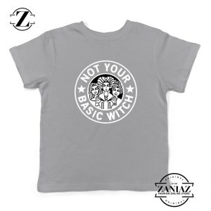 Not Your Basic Witch Kids Sport Grey Tshirt