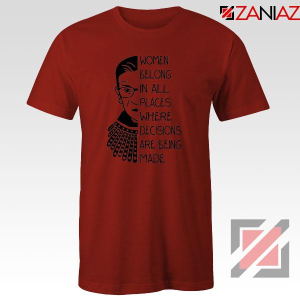 Ruth Bader Ginsburg Red Tshirt