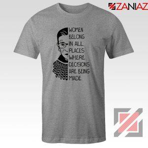Ruth Bader Ginsburg Sport Grey Tshirt