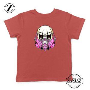 Skull Gas Mask Kids Red Tshirt