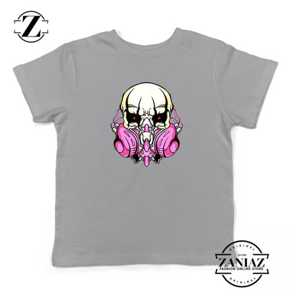 Skull Gas Mask Kids White Tshirt