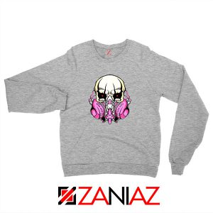 Skull Gas Mask Sport Grey Sweatshirt
