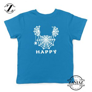 Spider Mickey Mouse Kids Blue Tshirt