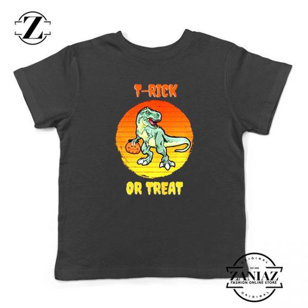 Trick or Treat Trex Kids Tshirt