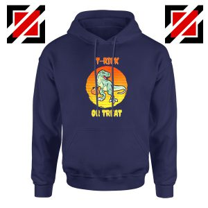 Trick or Treat Trex Navy Blue Hoodie