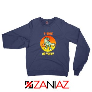 Trick or Treat Trex Navy Blue Sweatshirt
