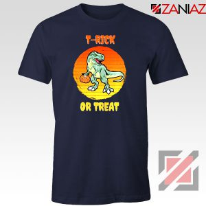 Trick or Treat Trex Navy Blue Tshirt