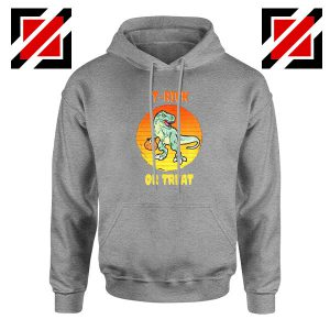 Trick or Treat Trex Sport Grey Hoodie