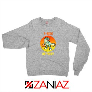 Trick or Treat Trex Sport Grey Sweatshirt