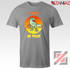 Trick or Treat Trex Sport Grey Tshirt