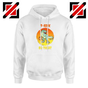 Trick or Treat Trex White Hoodie
