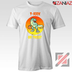 Trick or Treat Trex White Tshirt