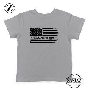 Trump American Flag Kids Sport Grey Tshirt