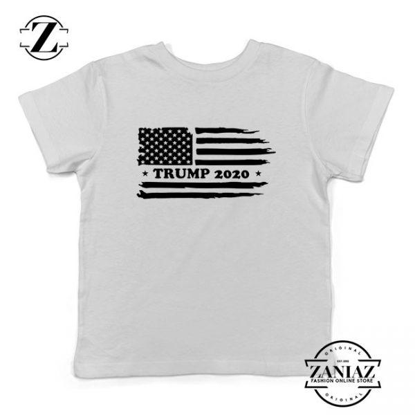 Trump American Flag Kids Tshirt