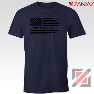 Trump American Flag Navy Blue Tshirt
