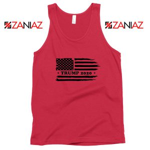 Trump American Flag Red Tank Top
