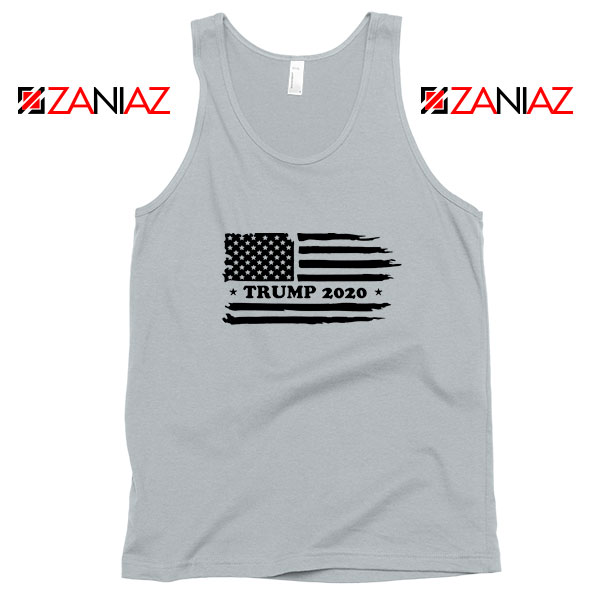 Trump American Flag Sport Grey Tank Top