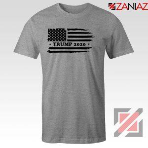 Trump American Flag Sport Grey Tshirt