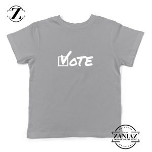 Vote 2020 Election Kids Sport Grey Tshirt