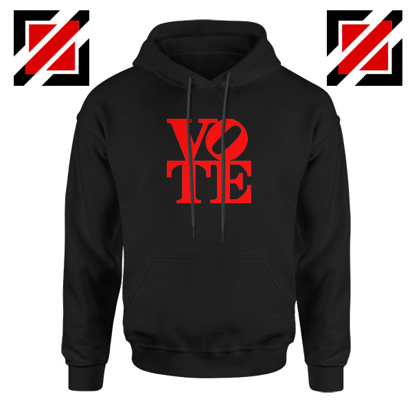 Vote Graphic Black Hoodie