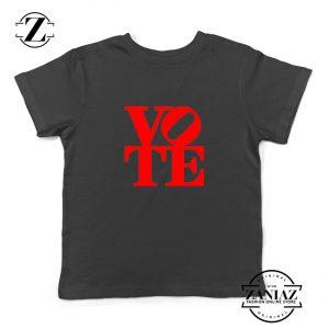 Vote Graphic Kids Black Tshirt