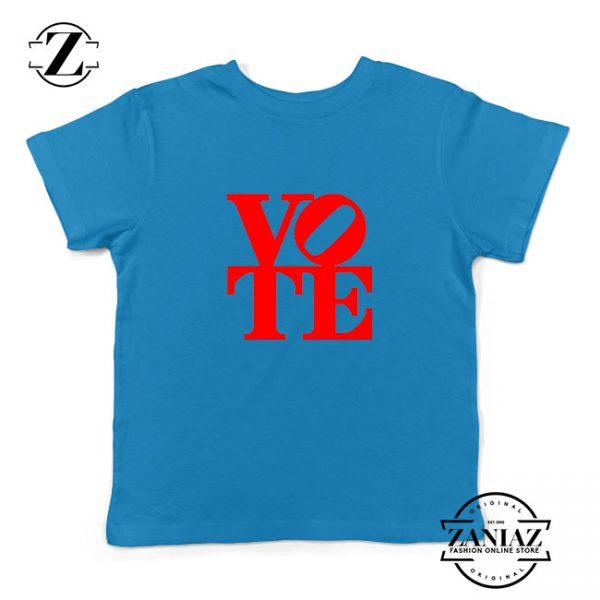 Vote Graphic Kids Blue Tshirt