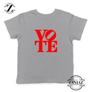 Vote Graphic Kids Sport Grey Tshirt