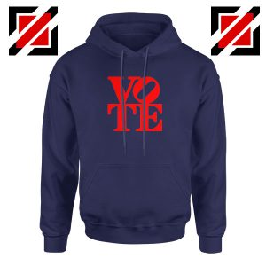 Vote Graphic Navy Blue Hoodie