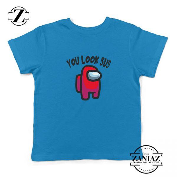 You Look Sus Kids Blue Tshirt