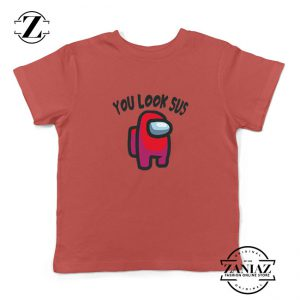 You Look Sus Kids Red Tshirt
