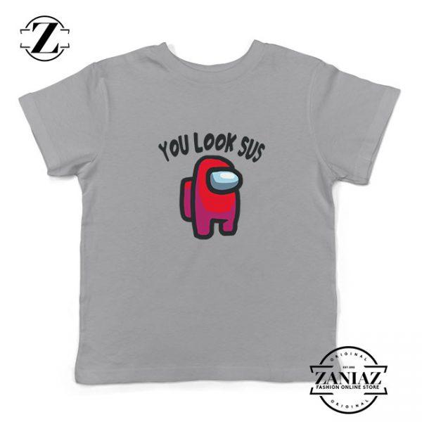 You Look Sus Kids Sport Grey Tshirt