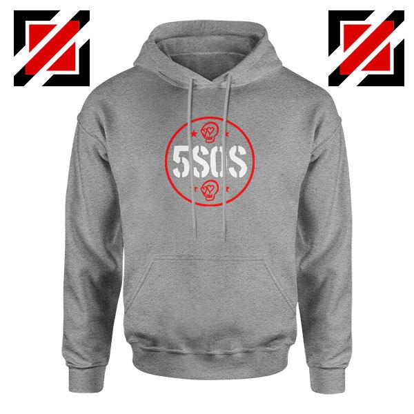 5SOS Circle Skull Sport Grey Hoodie