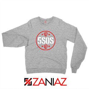 5SOS Circle Skull Sport Grey Sweatshirt