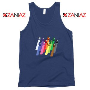 Among Us Imposter Navy Blue Tank Top
