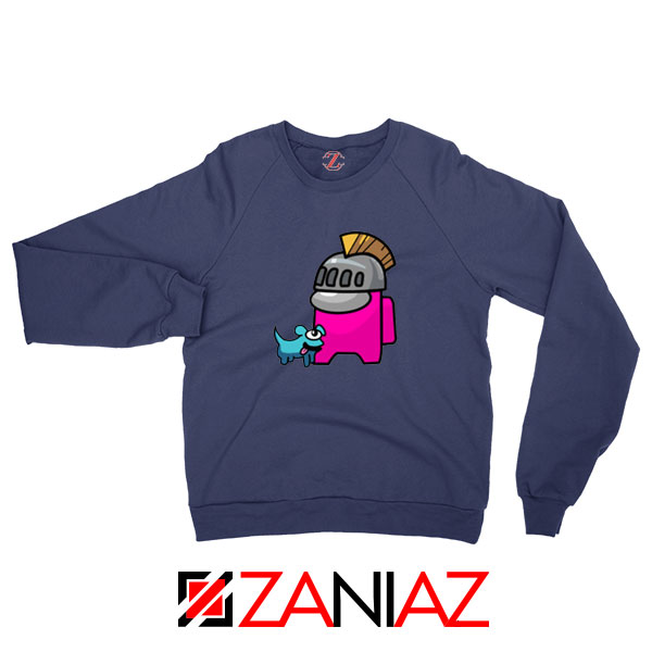 Among Us Pink Navy Blue Sweatshirt