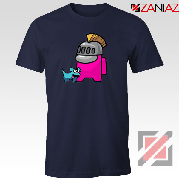 Among Us Pink Navy Blue Tshirt