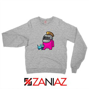 Among Us Pink Sport Grey Sweatshirt